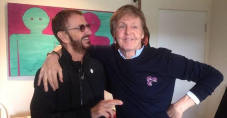 Paul McCartney e Ringo Starr se reúnem para gravação