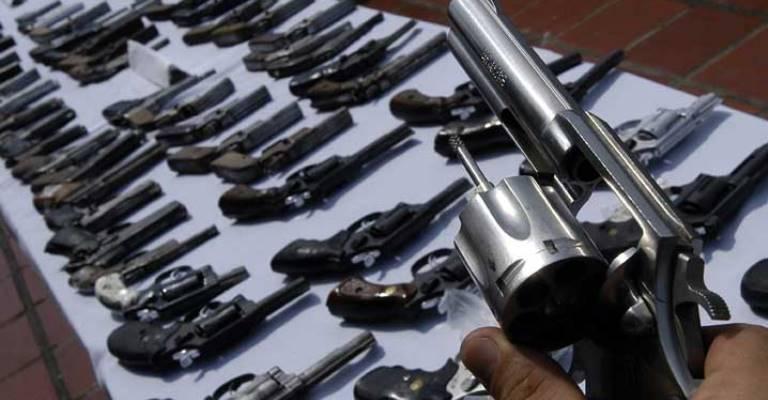 Armas apreendidas serão repassadas a órgãos de segurança