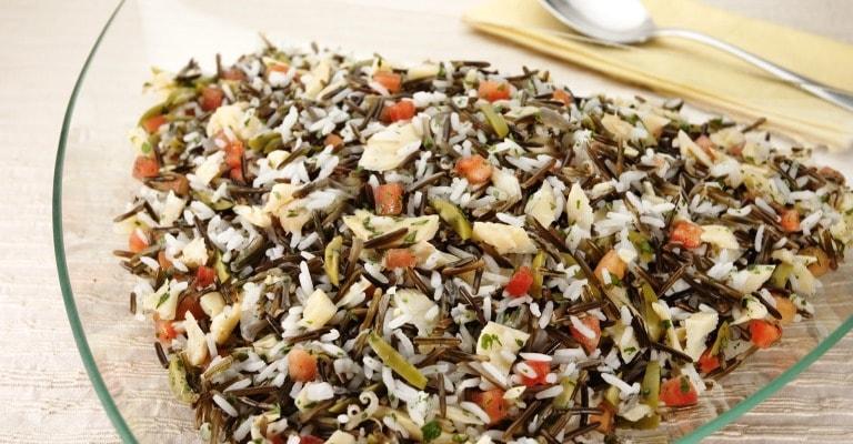 Para sua Pascoa: arroz selvagem com bacalhau