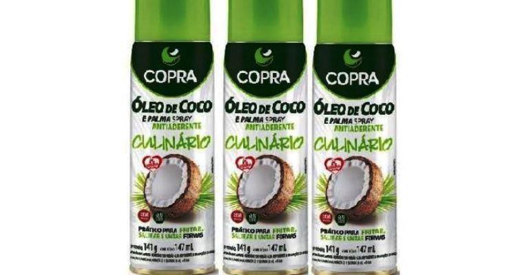 Copra lança óleo de coco em spray