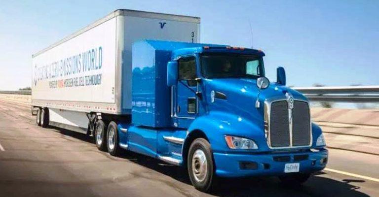 Caminhão movido a hidrogênio inicia testes