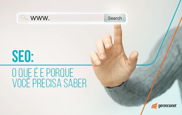 Uma mão clicando num ícone de pesquisa online