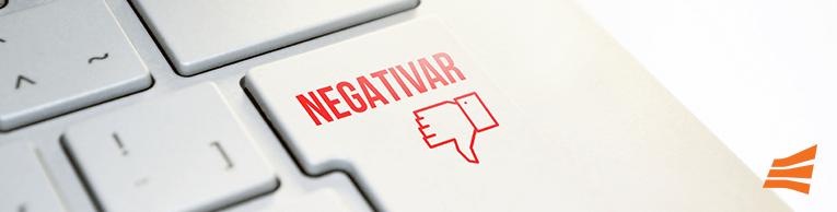 O que fazer para negativar clientes?