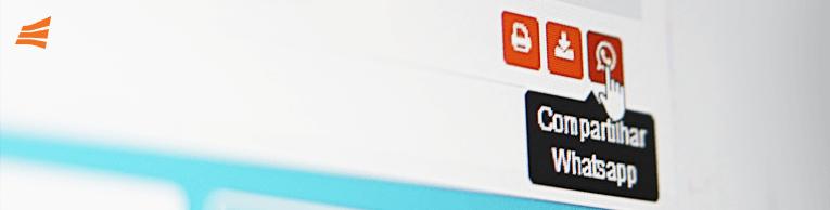 Imagem da plataforma Gerencianet que mostra a parte do compartilhamento das cobranças