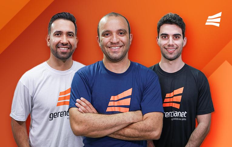 Na imagem, da esquerda para a direita: Danilo Oliveira, diretor de projetos, Evanil de Paula, CEO da Gerencianet, e Francisco Carvalho, gerente de projetos responsável pelo Pix do Banco Central