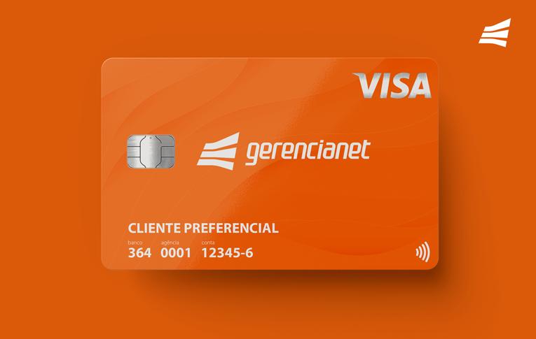 Foto ilustrativa do cartão de débito Gerencianet