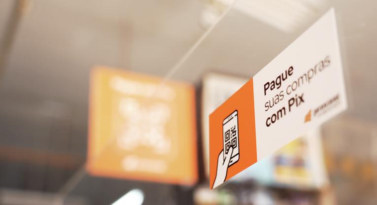 QR Code para receber pelo Pix no caixa do supermercado