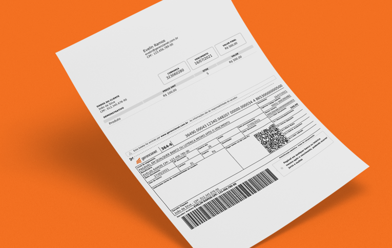 Exemplo de boleto com Pix da Gerencianet