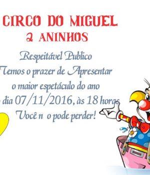 convite de circo