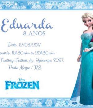 Convite Frozen de aniversario modelo 2