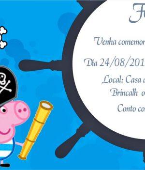 Convite da Peppa Pig