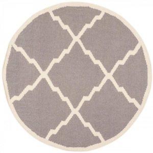 alfombra gris rombos redonda (Copy)