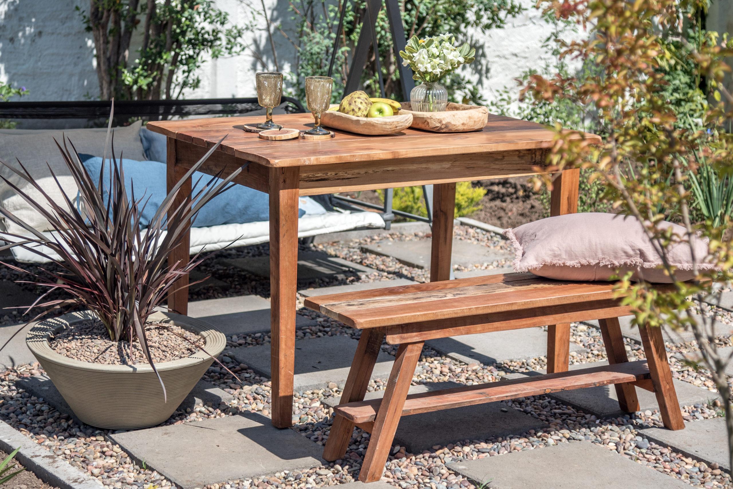 Decoración de terraza: la madera la lleva
