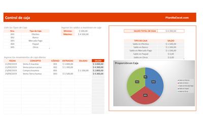 Planilla de Excel para Flujo de Caja