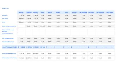 Plantilla de Excel de liquidación de IVA (Argentina)