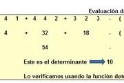Small planilla de excel de solucion de un determinante de 3x3