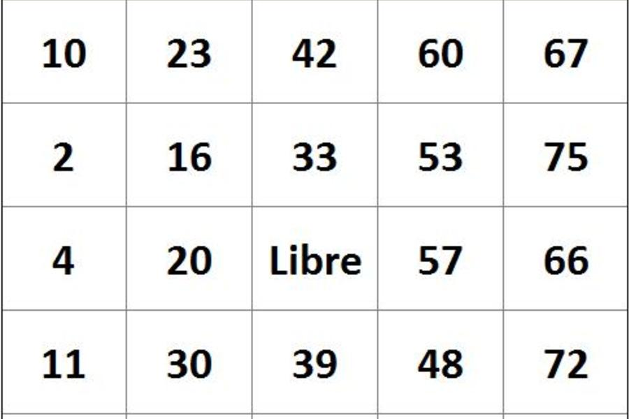 Tarjetas de Bingo en Excel - PlanillaExcel.com