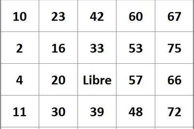 Tarjetas de Bingo en Excel