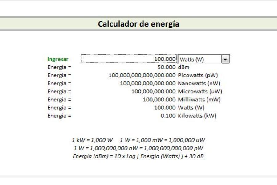 Planilla de Excel de Frecuencia de Radio - PlanillaExcel.com