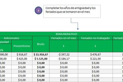 Planilla de Excel de Liquidación de Sueldos