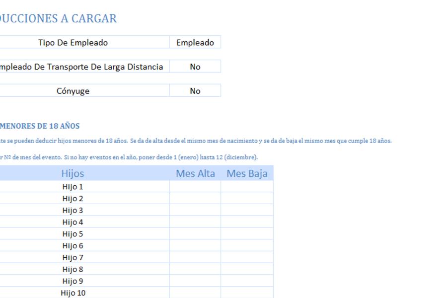 Planilla de Excel para Cálculo de Impuesto a las Ganancias (Argentina)