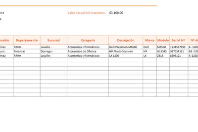 Inventario de Hardware en Excel