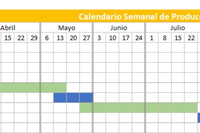 Calendario de producción 2019