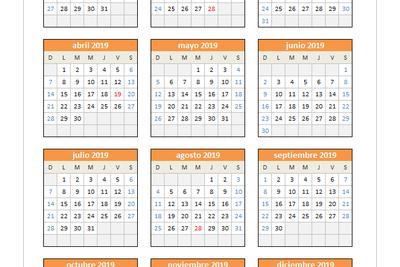 Calendario Chile 2020.Planillaexcel Descarga Plantillas De Excel Gratis