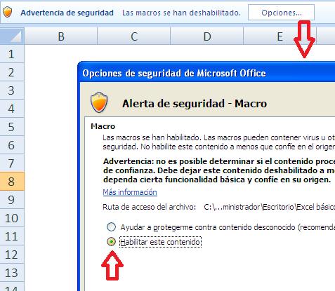 Habilitar Macros Excel 2007