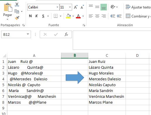 Limpiar datos en Excel