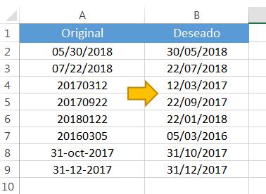 Convertir texto a fecha