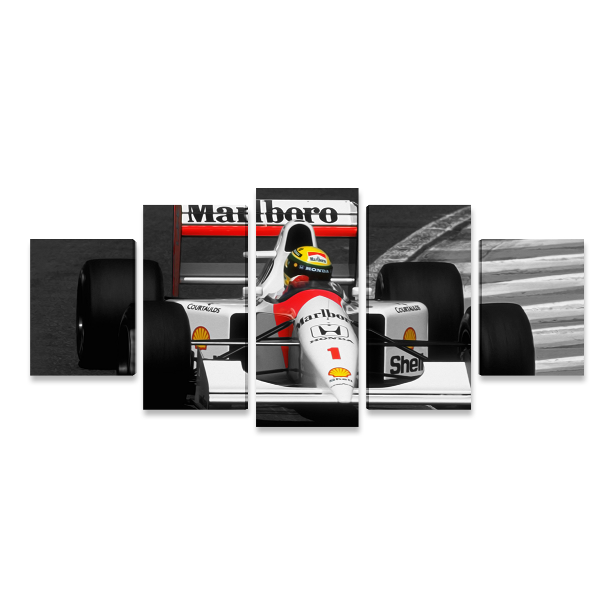 8a73885a5 Quadro Ayrton Senna Grande Fórmula 1 McLaren Mosaico GRD ...