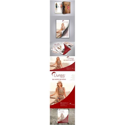 Exemplo de Logo e Papelaria (6 itens) do designer DJMingos para Livres Fashion pt III
