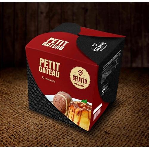 Exemplo de Peça Gráfica (unidade) do designer Huellf para Gelatto - doces & sorvetes