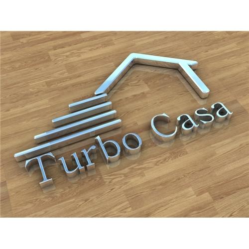 Exemplo de Logo em 3D do designer maqplay para TurboCasa