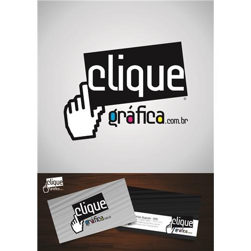 Exemplo de Logo do designer DougOliveira para Clique Gráfica
