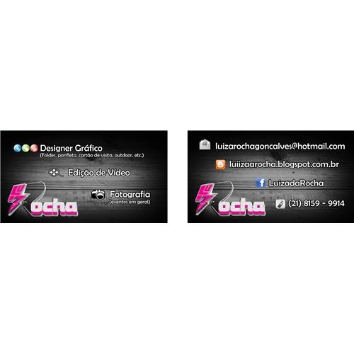 Exemplo de Logo e Cartao de Visita do designer Luiza Rocha para Cartao de Visita