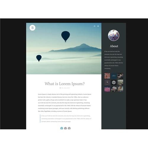Exemplo de Layout Web-Design do designer andrey.tudonanet para Blog