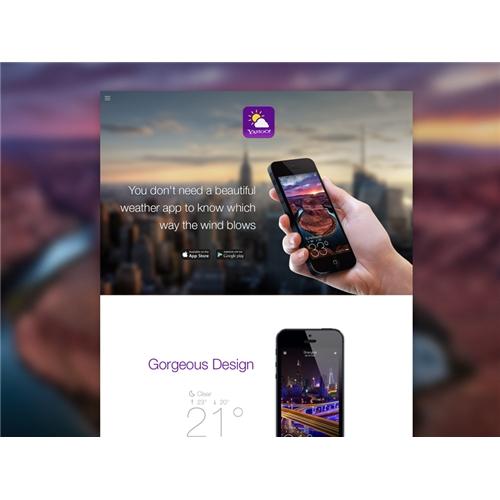 Exemplo de Layout Landing Page do designer andrey.tudonanet para App Landing Page
