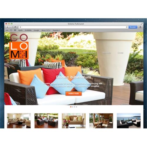 Exemplo de Layout Web-Design do designer andrey.tudonanet para Móveis Colomi