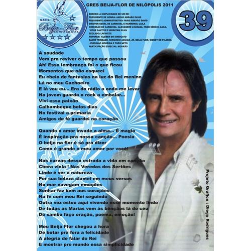 Exemplo de Folheto ou Cartaz (sem dobra) do designer Diego Rodrigues de Souza para cartaz da Beija flor
