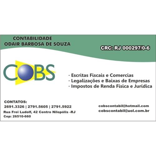 Exemplo de Logo e Cartao de Visita do designer Diego Rodrigues de Souza para Cobs
