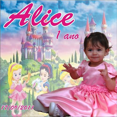 Exemplo de Peça Gráfica (unidade) do designer Diego Rodrigues de Souza para Alice