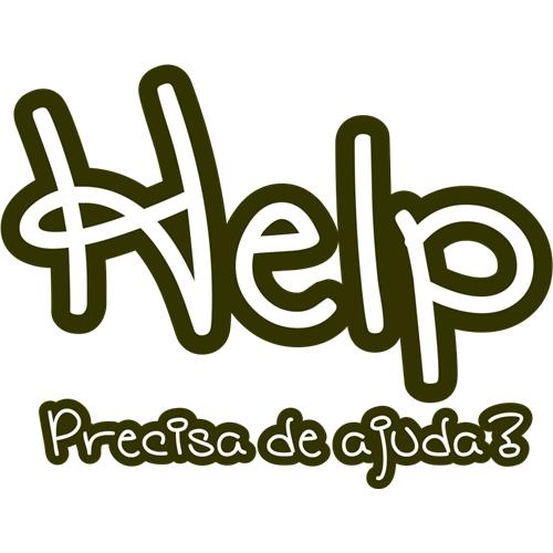 Exemplo de Nome de Empresa do designer Kathe Lopes para Help Preciso de Ajuda