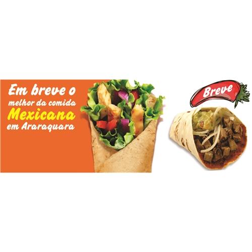 "Exemplo de Banner ou Pop-up do designer José Lopes Nei para Banner ""Taco Libre"" lançamento restaurante"