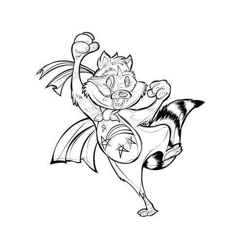 Exemplo de Mascote do designer Gabriel Diaz para Mascote lineart