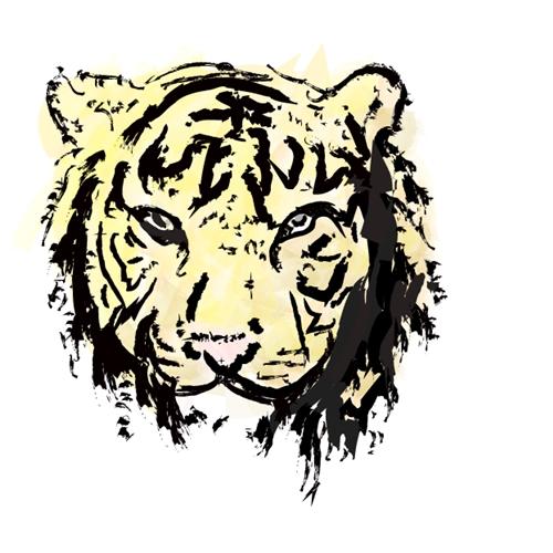 Exemplo de Ilustraçao ou Caricatura do designer T.Eiji para Tigre