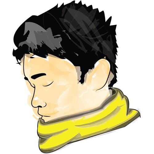 Exemplo de Ilustraçao ou Caricatura do designer T.Eiji para Thiga