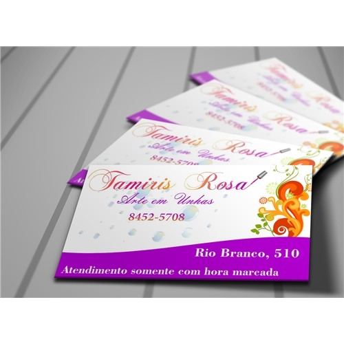 Exemplo de Logo e Cartao de Visita do designer Amauri Rufino para Cartao Manicure