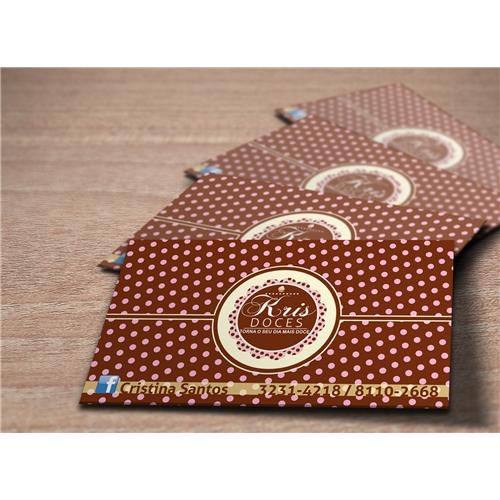 Exemplo de Logo e Cartao de Visita do designer Amauri Rufino para Cartao Kris Doces
